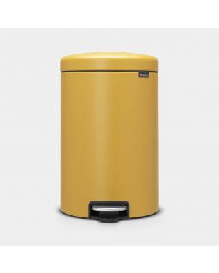 Cubo pedal newIcon 20 litros - Mineral Mustard Yellow