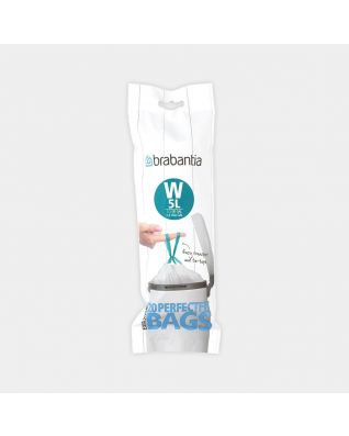 PerfectFit Bin Bags For newIcon, Code W (5 litre), Roll with 20 Bags