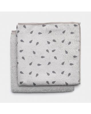 Microfibre Dish Cloths Set of 2 - Light Grey