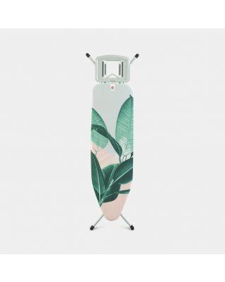 Mesa de planchar B 124 x 38 cm, para plancha de vapor - Tropical Leaves