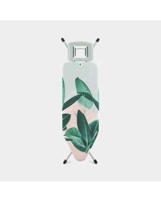 Ironing Board C 124 x 45 cm, for Steam Iron - Tropical Leaves