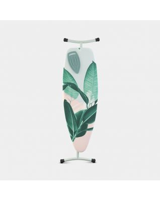 Ironing Board D 135 x 45 cm, for Steam Iron & Generator - Tropical Leaves