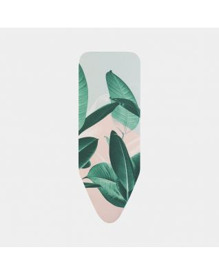 Ironing Board Cover C 124 x 45 cm, Top Layer - Tropical Leaves