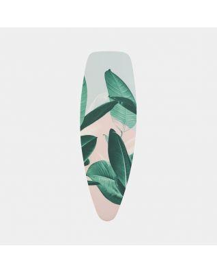Housse de table à repasser taille D 135 x 45 cm, set complet - Tropical Leaves