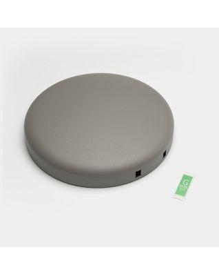 Couvercle poubelle à pédale newIcon, 30 litres - Mineral Concrete Grey