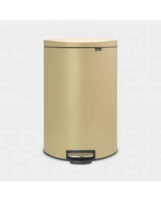 Pedal Bin FlatBack+ 40 litre - Mineral Golden Beach