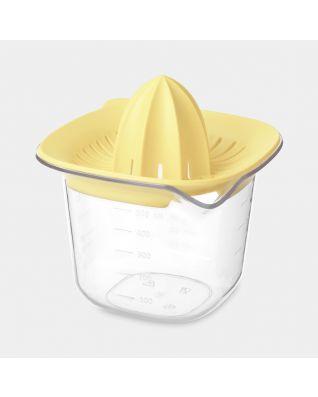 Maatbeker & pers TASTY+ - Vanilla Yellow