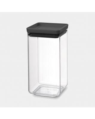 Bocal carré 1,6 litre - TASTY+ - Dark Grey