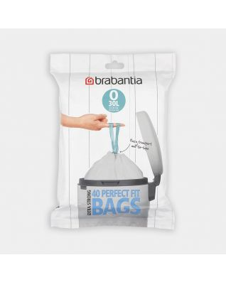 PerfectFit Bin Bags For FlatBack+ and Bo Waste Bin 2x30L, code O (30 litre), Dispenser Pack, 40 Bags