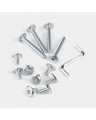 Set of all Bolts + Key - Silver