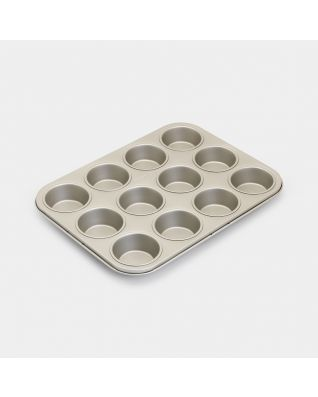 Muffin Tin 12 pieces, Non-Stick - Champagne