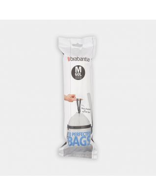 PerfectFit Bin Bags For Bo, Code M (60 litre), Roll with 10 Bags