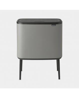 Bo Touch Bin 11 + 23 litres - Mineral Concrete Grey
