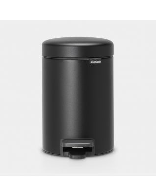 Pedal Bin newIcon, 3 litre, Soft Closing, Plastic Inner Bucket - Mineral Moonlight Black