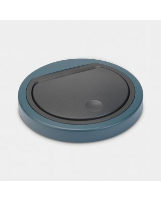 Lid Touch Bin 30 litre or 20 litre, flat - Mineral Reflective Blue