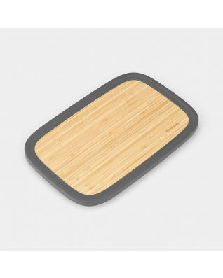 Couvercle en bambou avec rebord pour boîte à Pain Nic - Dark Grey