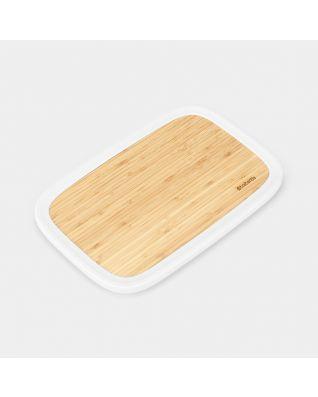 Couvercle en bambou avec rebord pour boîte à Pain Nic - Light Grey