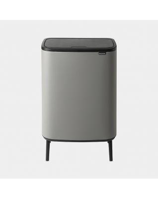 Bo Touch Bin Hi 60 litres - Mineral Concrete Grey