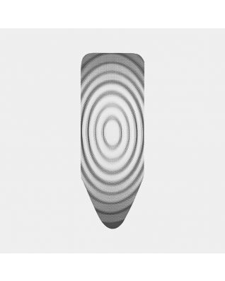 Housse de table à repasser taille C 124 x 45 cm, Housse externe - Titan Oval