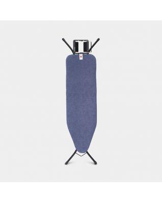 Strijkplank B 124 x 38 cm, voor stoomstrijkijzer  - Denim Blue
