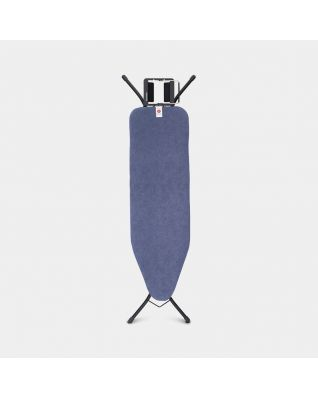 Ironing Board B 124 x 38 cm, for Steam Iron - Denim Blue