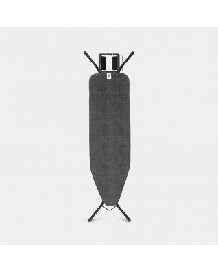 Strijkplank B 124 x 38 cm, voor stoomstrijkijzer  - Denim Black
