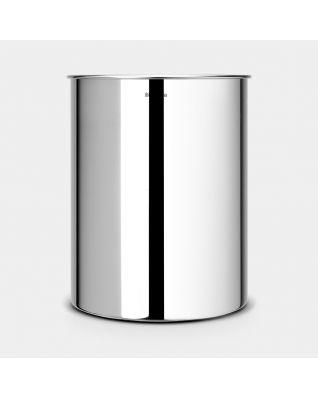 Waste Paper Bin 15 litre - Brilliant Steel