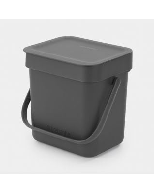 Sort & Go Waste Bin 3 litre - Grey