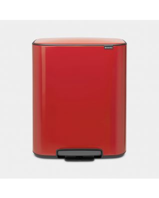 Bo Pedal Bin 2 x 30 litre - Passion Red