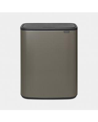 Bo Touch Bin 2 x 30 litres - Platinum
