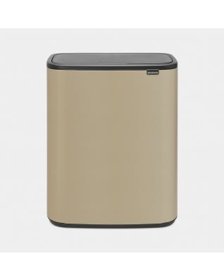 Bo Touch Bin 2 x 30 litre - Mineral Golden Beach