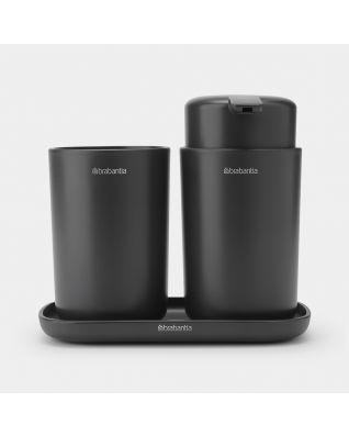 Ensemble d'accessoires pour la salle de bains ReNew, kit de 3 - Dark Grey