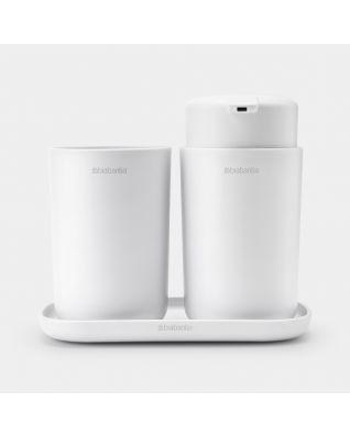 Ensemble d'accessoires pour la salle de bains ReNew, kit de 3 - White