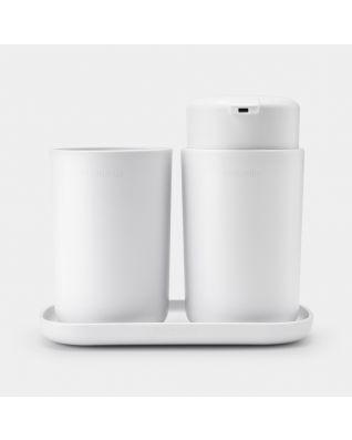 Bathroom Accessory Set ReNew, Set of 3 - White