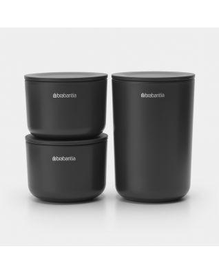 Pots de stockage Kit de 3 - Dark Grey