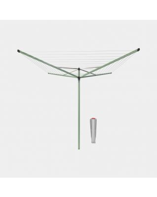 Séchoir Topspinner 50 mètres, avec ancre de sol, Ø 45 mm - Leaf Green