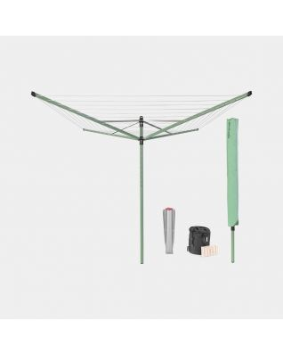 Rotary Dryer Lift-O-Matic 50 metre, with Ground Spike, Cover & Peg Bag, Ø 45 mm - Leaf Green