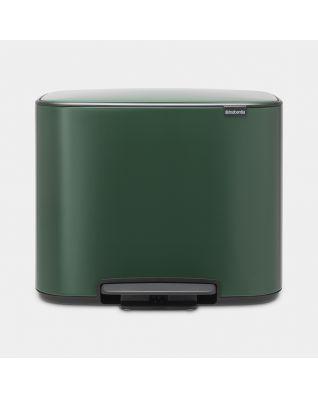 Poubelle à pédale Bo 3 x 11 litres - Pine Green