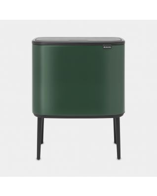 Bo Touch Bin 11 + 23 litre - Pine Green