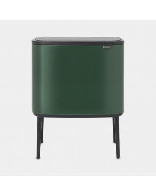 Bo Touch Bin 3 x 11 litres - Pine Green