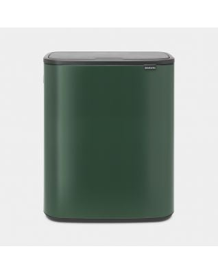 Green big waste bin with touch
