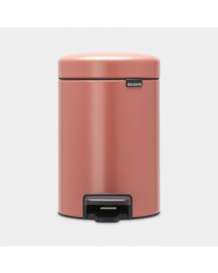 Poubelle à pédale newIcon 3 litres - Terracotta Pink