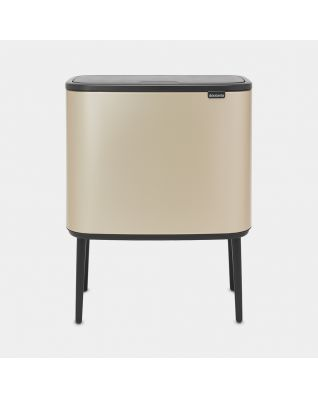 Bo Touch Bin 11 + 23 litres - Champagne