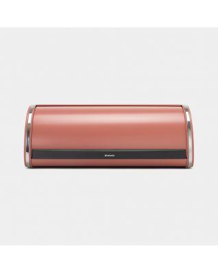 Roll Top Bread Bin Terracotta Pink