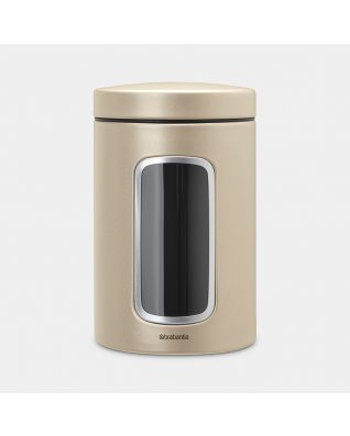 Window Canister 1.4 litre - Champagne