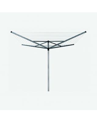 Droogmolen Topspinner 50 meter, met bodemhuls, Ø 45 mm - Metallic Grey