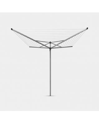 Droogmolen Topspinner 40 meter, met grondanker, Ø 45mm - Metallic Grey