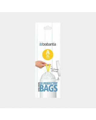 PerfectFit Bags Code A (3 litre), Roll with 20 Bin Bags