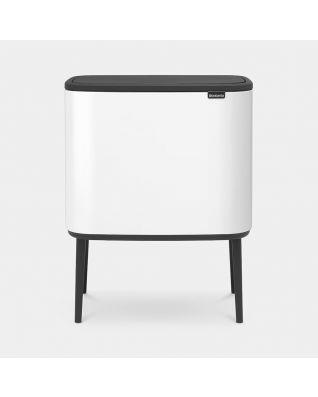 Bo Touch Bin 3 x 11 litre - White