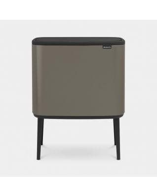 Bo Touch Bin 3 x 11 litre - Platinum
